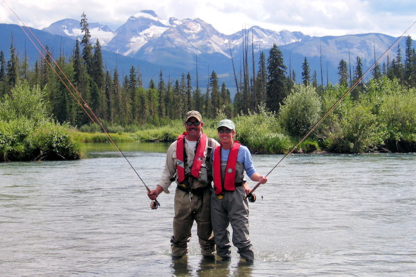Fly fishing wild BC Rivers at Northern Lights Lodge, BC, Canada